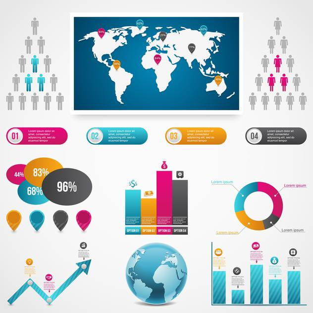 set of business infographic elements - Free vector #133531