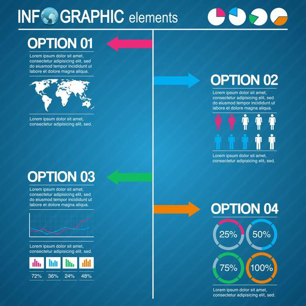 set of business infographic elements - vector gratuit #133541