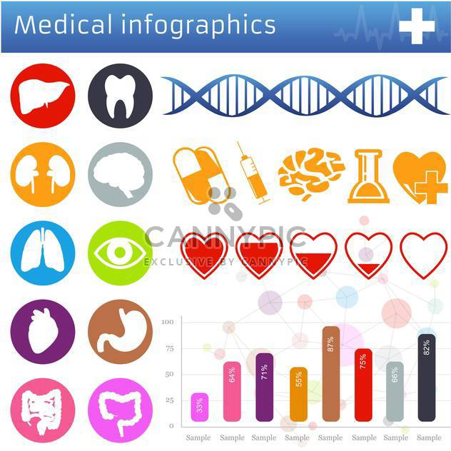 medical icons and symbols set - Free vector #133661