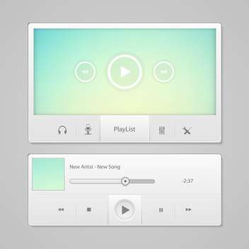 blue video player for web - vector #133691 gratis