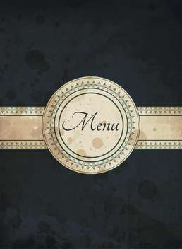 vintage food menu background - vector #133721 gratis
