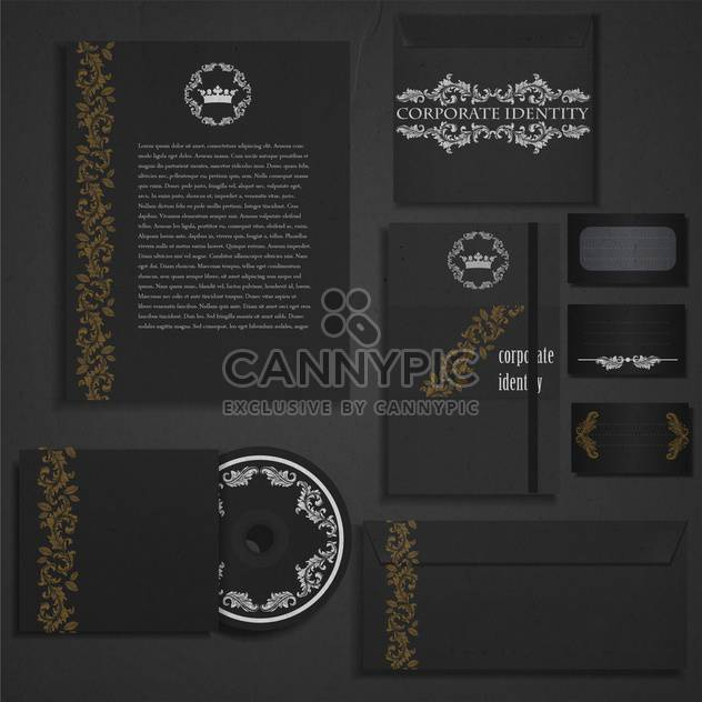 vintage corporate damask identity - Free vector #133731