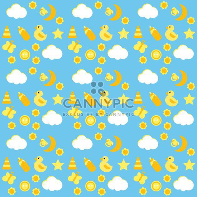 vector baby card background - Free vector #133781