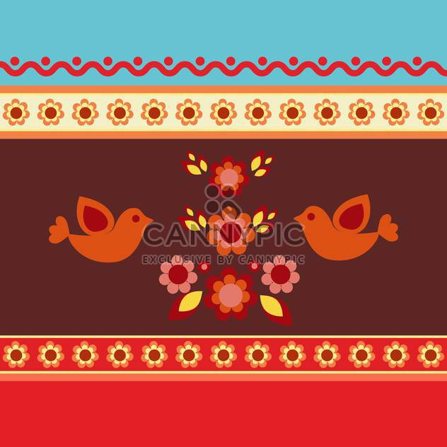 ethnic pattern floral background - Free vector #133791
