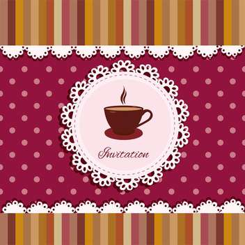 invitation background with cup of tea - vector gratuit #133801