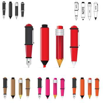 pen, pencil and marker illustration - Free vector #133841
