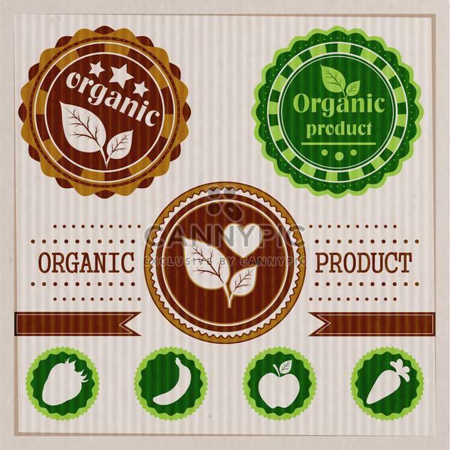 Jahrgang Bio und Öko Labels von Naturprodukten - Kostenloses vector #133861
