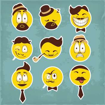 funny smiley characters illustration - Free vector #133871