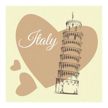 pisa town travel illustration - Free vector #133881