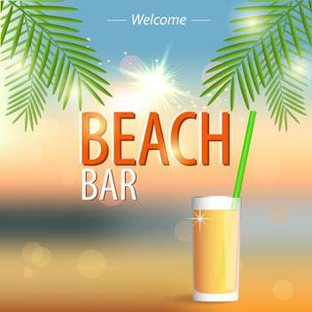 beach bar poster background - vector gratuit #133941