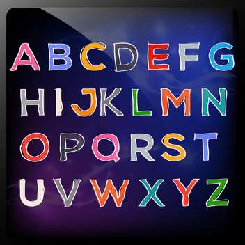hand drawn colorful abc letters - Free vector #133991