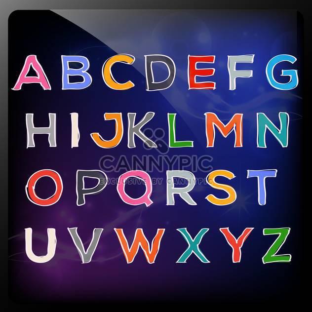 handgezeichnete bunte Abc-Buchstaben - Kostenloses vector #133991