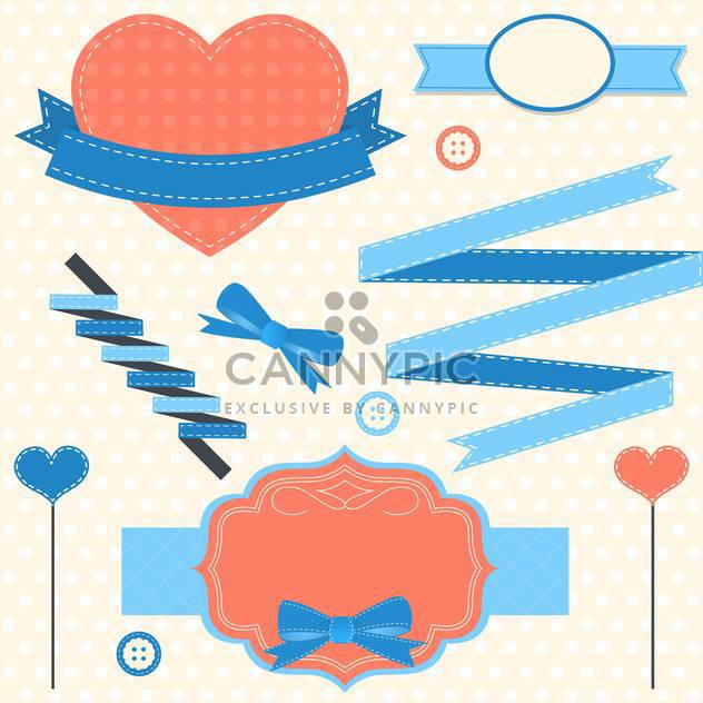 vintage valentine's day holiday frames - Free vector #134021
