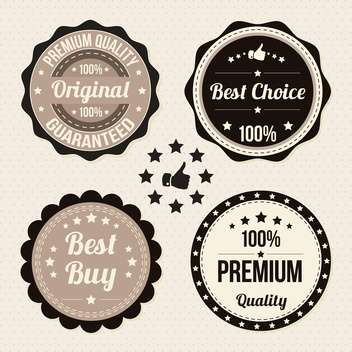 vector set of retro labels - vector gratuit #134041
