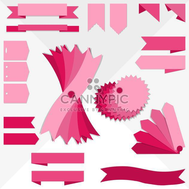 pink ribbons collection set - Free vector #134111