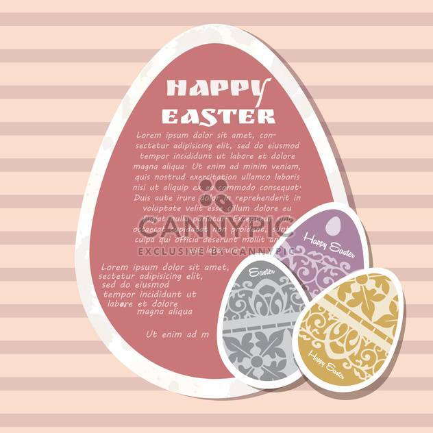 template for happy easter card with eggs - Free vector #134131