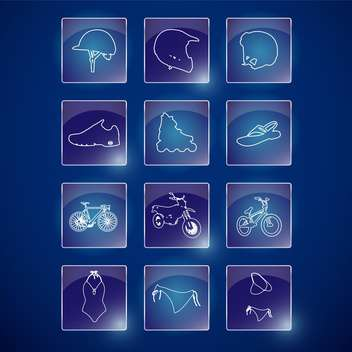 sport lifestyle icons set - Kostenloses vector #134161