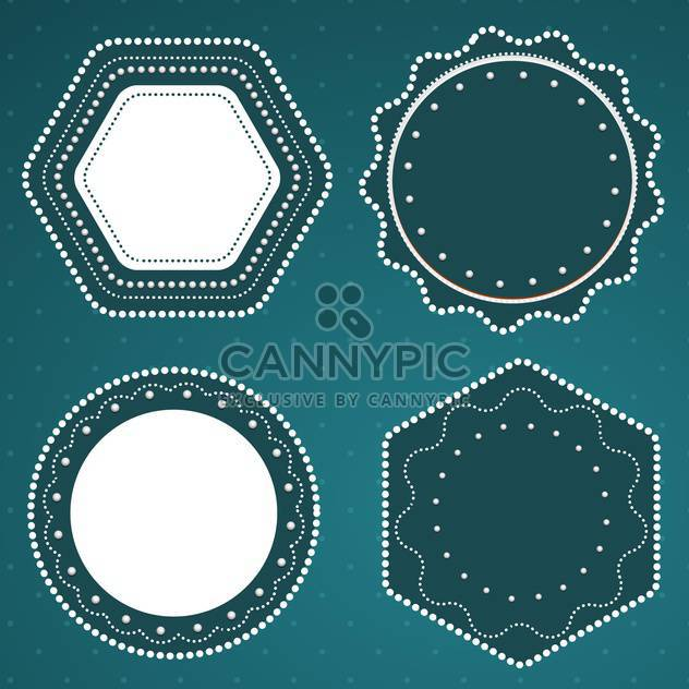 retro styled vector frames - Free vector #134281