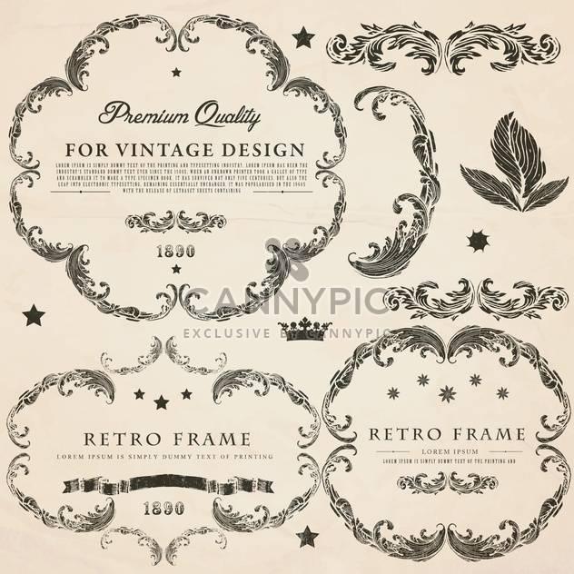 vintage design elements set - Free vector #134301