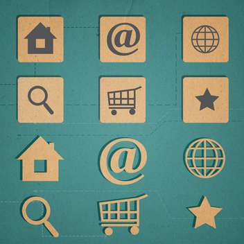web icons set internet collection - Free vector #134311