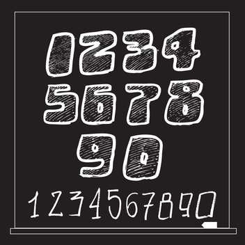 numbers vector sketch style set - vector gratuit #134341