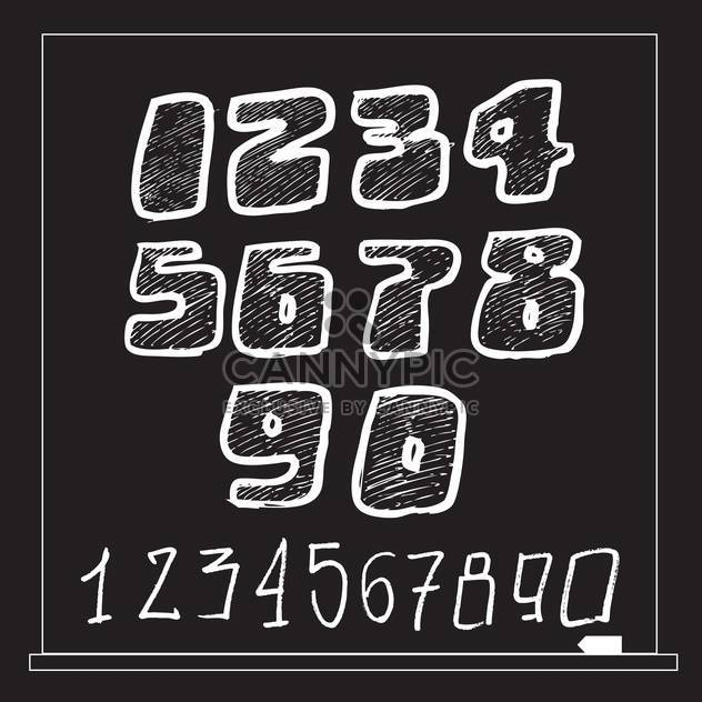 numbers vector sketch style set - Free vector #134341