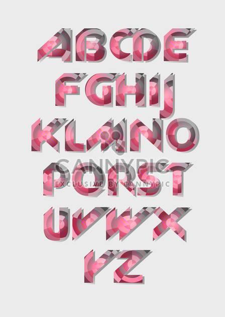 Alphabet-Rosa Schriftsatz - Kostenloses vector #134361