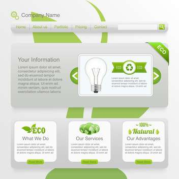 eco website template background - vector gratuit #134381