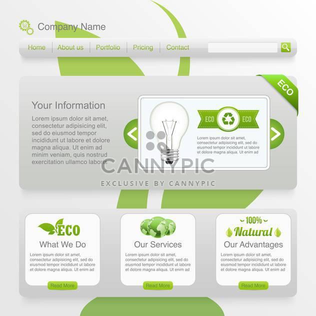 Eco-Webseite Vorlage Hintergrund - Free vector #134381