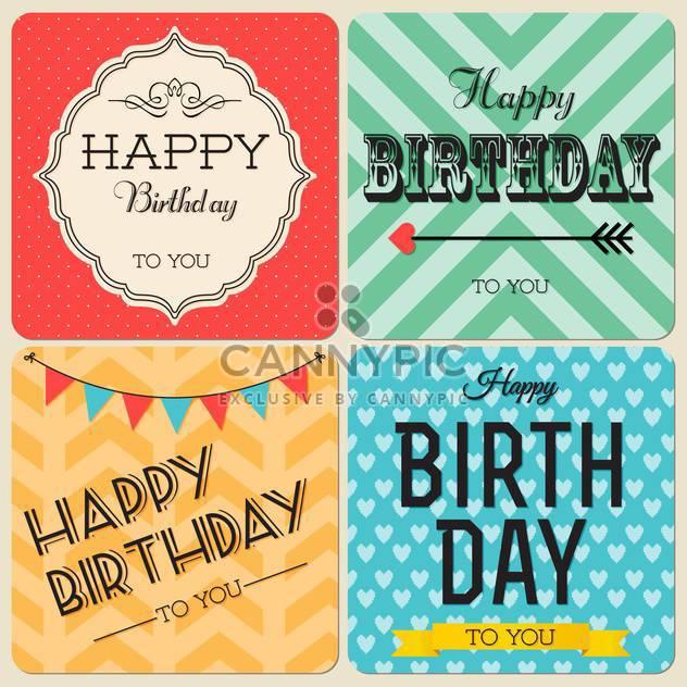 alles Gute zum Geburtstag-Grußkarten-set - Kostenloses vector #134391