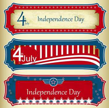 usa independence day labels - Free vector #134401