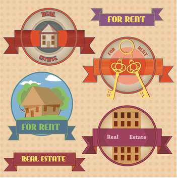 set of different labels for rent - Free vector #134411