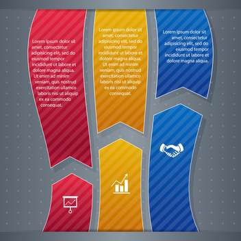 business infographic banner background - vector #134451 gratis