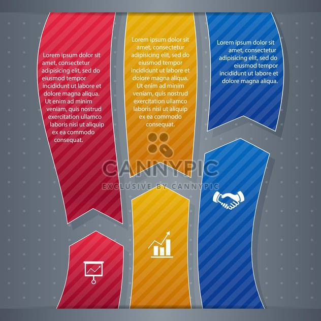 business infographic banner background - Free vector #134451