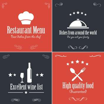 restaurant menu brochure template - бесплатный vector #134461