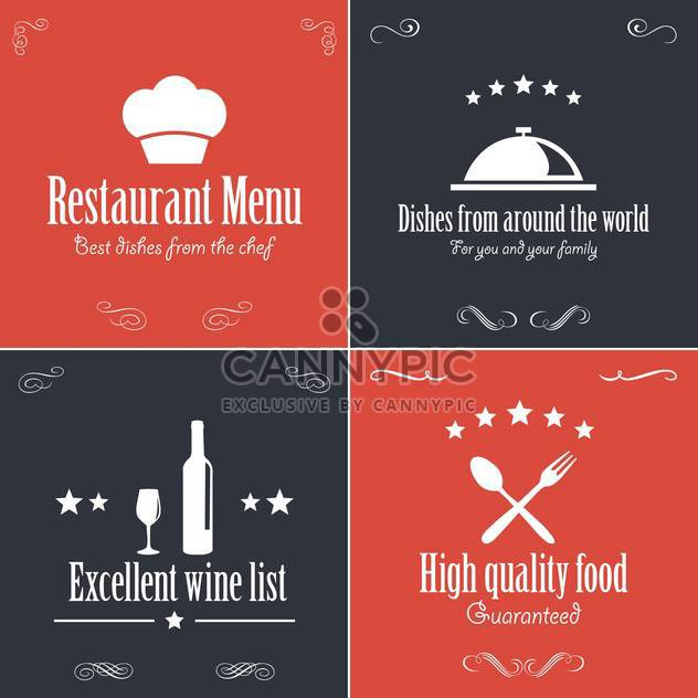 Broschüre-Menüvorlage Restaurant - Free vector #134461