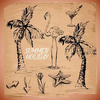 summer sketch art background - vector #134491 gratis