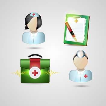 medical icons set background - Free vector #134521