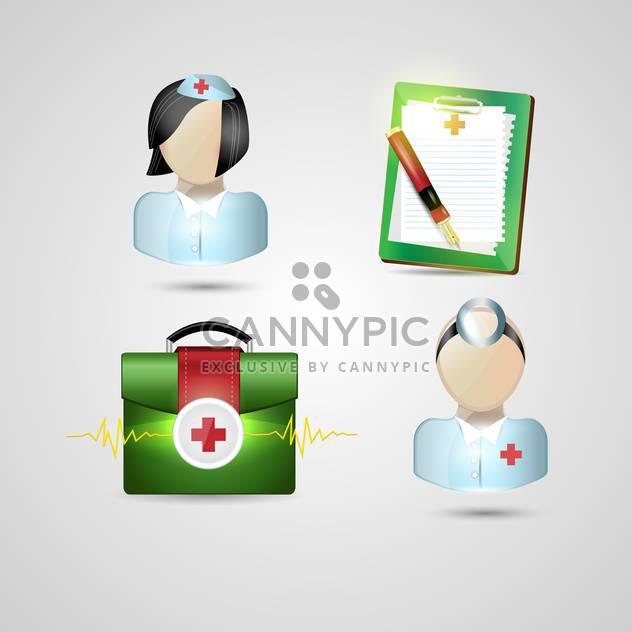 medizinische Symbole festlegen Hintergrund - Free vector #134521