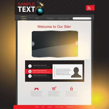 business website template background - Free vector #134531