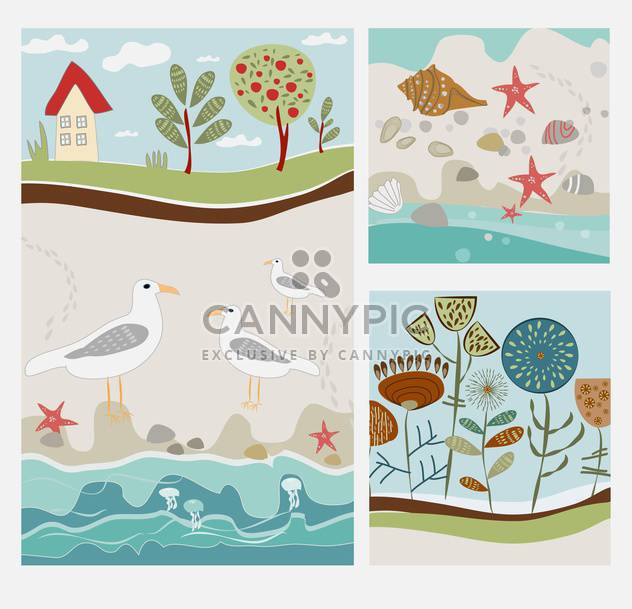 Sommer Urlaub Jahrgang background - Free vector #134541