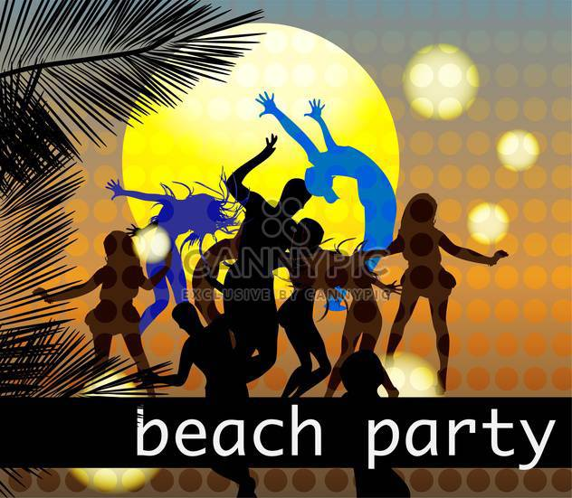 Beach Party Plakat Hintergrund - Free vector #134551