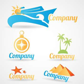 collection of logos for travel tourist companies - vector gratuit #134561