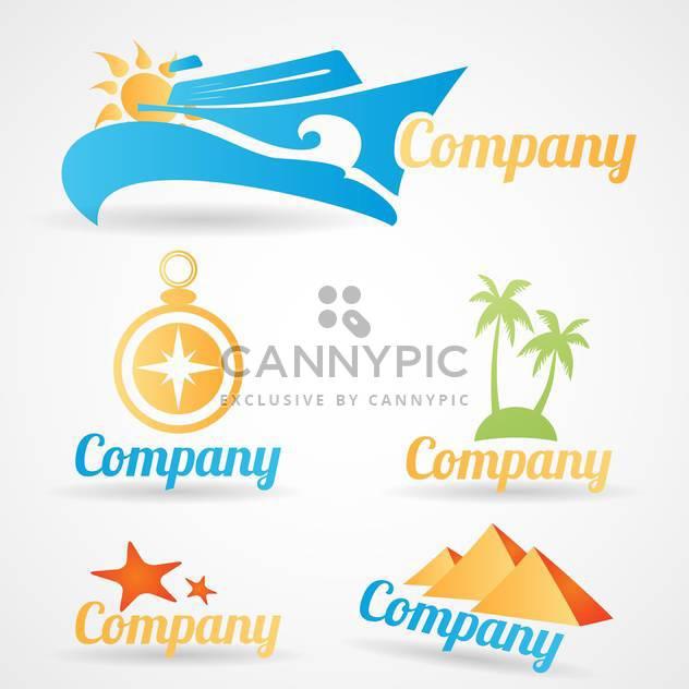 Sammlung von Logos für Reise-Tourismus-Unternehmen - Free vector #134561
