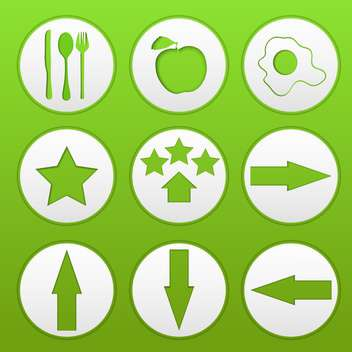 web buttons on green background - vector #134621 gratis