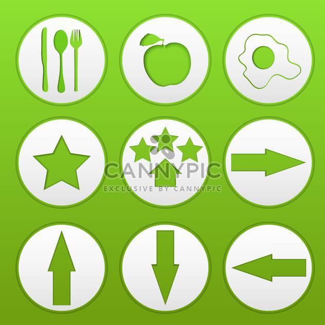 Web-Schaltflächen auf grünem Hintergrund - Free vector #134621