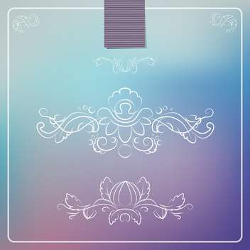 decorative frame braiding background - vector gratuit #134661