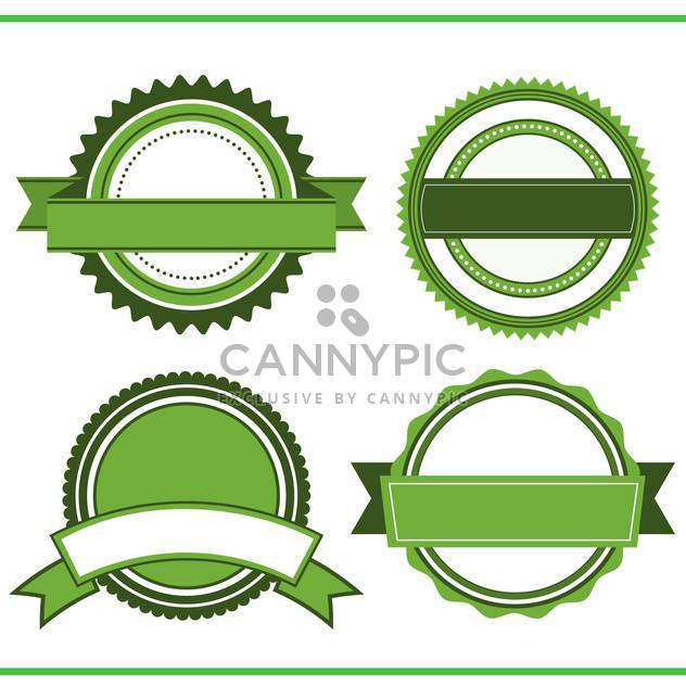 vintage decorative labels set - Free vector #134711