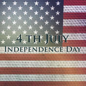 vintage vector independence day background - Free vector #134751