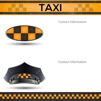 racing background with taxi cab template - vector gratuit #134761